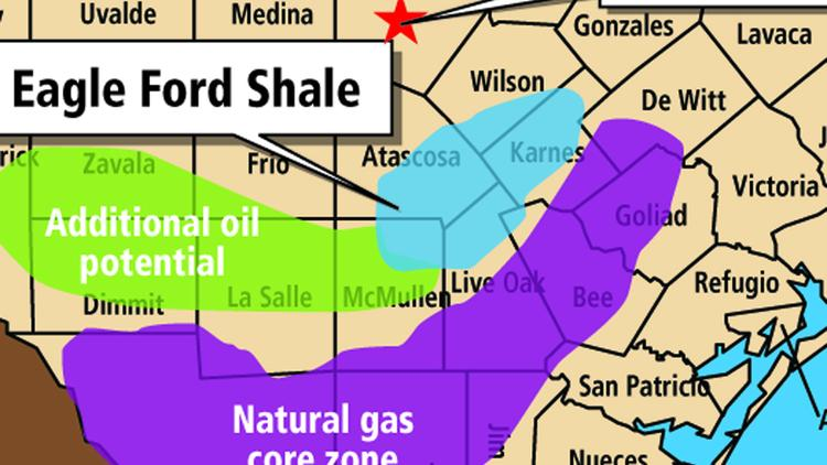 Article #3_Eagle Ford Shale map