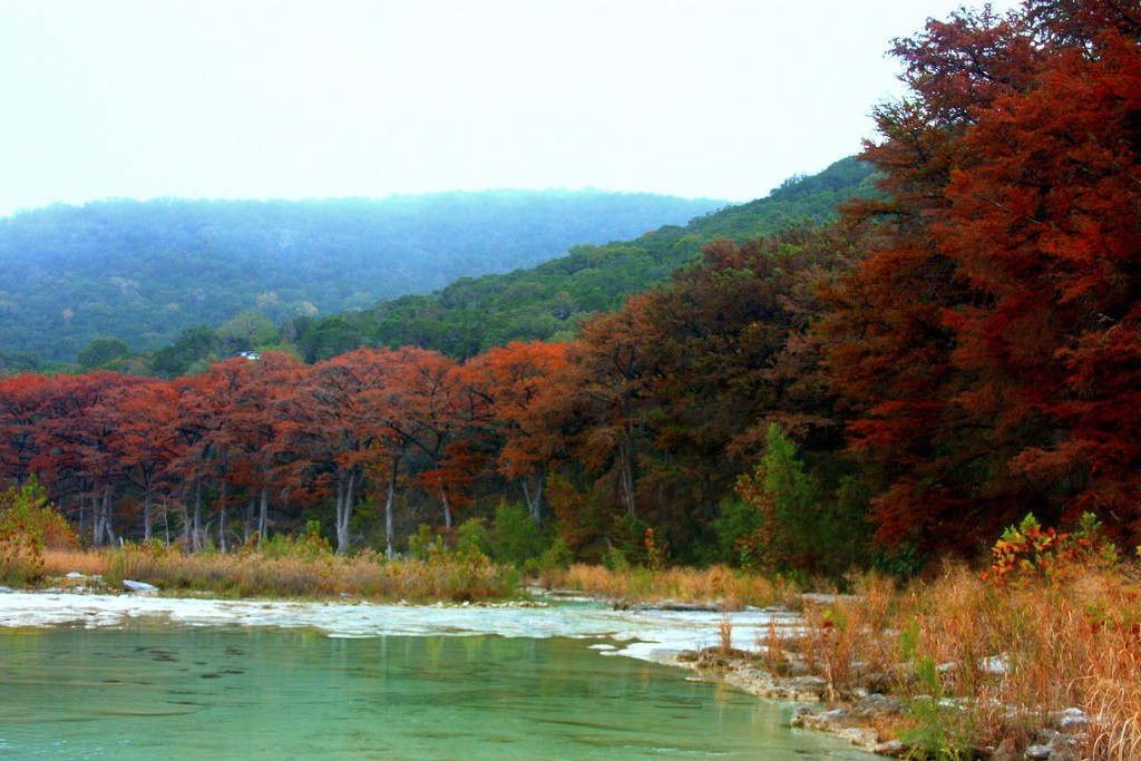 Garner State Park has beautiful foliage in the fall.